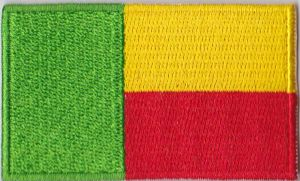 Benin Embroidered Flag Patch, style 04